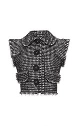 Dolce And Gabbana Deconstructed Tweed Vest Multi