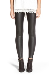 Lysse Faux Leather And Faux Suede Leggings Black