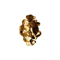 Carolina Curado Jewellery Ginkgo Biloba Ring Five Leaves Gold