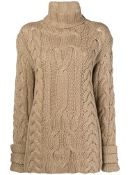 Michel Klein Chunky Knit Jumper Brown
