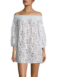 6 Shore Road Socialites Off The Shoulder Lace Cover Up Moonlight