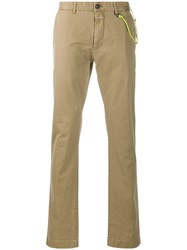 Closed Straight Leg Trousers Neutrals