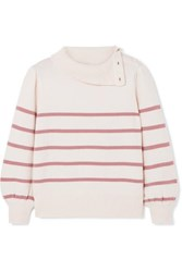 Co Striped Wool And Cashmere Blend Sweater Ivory