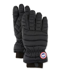 Canada Goose Lightweight Quilted Down Filled Gloves Black
