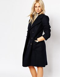 Oasis Double Breasted Peacoat Navy