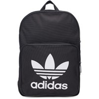 Adidas Originals Black Classic Trefoil Logo Backpack