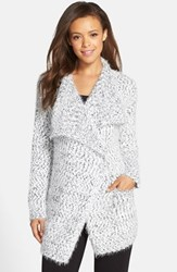 Women's Pj Salvage Drape Collar Boucle Cardigan
