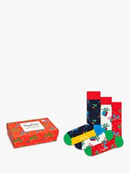 Happy Socks Candy Cane Box One Size Pack Of 3 Multi
