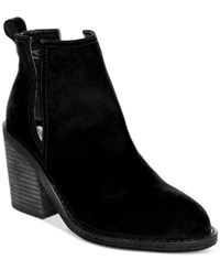 Steve Madden Women's Sharini Cut Out Booties Women's Shoes Black Suede
