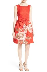 Ted Baker Women's London Deemey Embroidered Jacquard Party Dress
