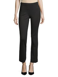 Saks Fifth Avenue Ponte Flare Stretch Pants Black