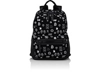 Lanvin Men's Zip Front Backpack Black