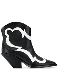Just Cavalli Cowboy Ankle Boots Black