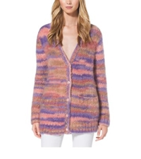 Michael Kors Space Dyed Mohair Cardigan Wisteria