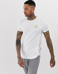 Sik Silk Siksilk T Shirt In With White Marble Print