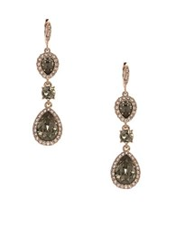 Givenchy Pave Teardrop Earrings Pink