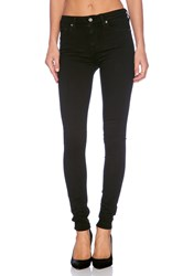 7 For All Mankind The High Waist Skinny Slim Illusion Luxe Black