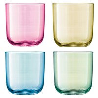 Lsa International Polka Assorted Tumblers Set Of 4 Pastel