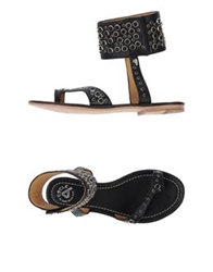 Cycle Thong Sandals Black