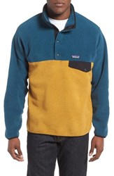 Patagonia Men's 'Synchilla Snap T' Fleece Pullover Green