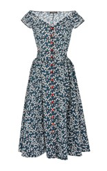 Zac Posen Liberty Print A Line Dress Floral