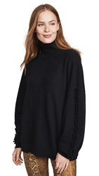 Barrie Long Sleeve Cashmere Pullover Black