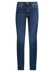 Mih Jeans Daily High Rise Straight Leg Dark Denim
