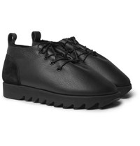 Hender Scheme Shearling Lined Leather Shoes Black
