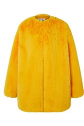 Ochi Faux Fur Coat Yellow