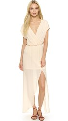 Rory Beca Plaza Overlap Gown Petal