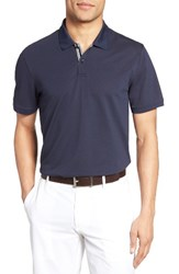 Ag Jeans Men's The Berrian Pique Polo Naval Blue