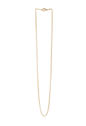 Forever 21 Thin Curb Chain Necklace Gold