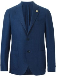 Lardini Patch Pocket Blazer Blue