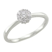 Ewa 18Ct White Gold Diamond Cluster Engagement Ring