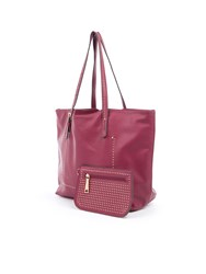 Lavand Tote Bag And Its Wallet Purple