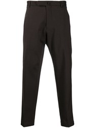 Dell'oglio Tailored Cropped Trousers Brown