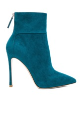 Gianvito Rossi Suede Ankle Booties In Green