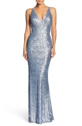 Dress The Population Harper Mermaid Gown Ice Blue
