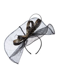 Biba Kirsty Wave Bow Fascinator Black