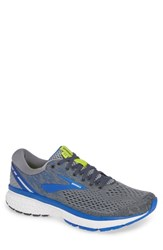 Brooks Ghost 11 Running Shoe Grey Blue Silver