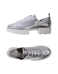 Audley Lace Up Shoes Silver