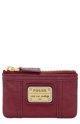 Women's Fossil 'Emory' Zip Coin Pouch Red Maroon