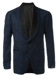 Gabriele Pasini Floral Embroidered Blazer Blue