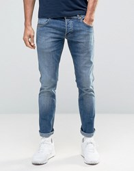 Wrangler Low Rise Slim Leg Jean In Blue What Blue Wash Blue