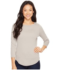 Lilla P 3 4 Sleeve Boat Neck Twig Women's Clothing Brown