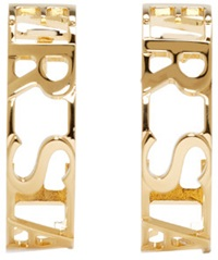 Versace Gold Letter Hoop Earrings