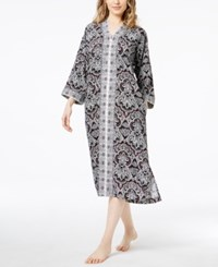 Charter Club Printed Woven Caftan Created For Macy's Classic Black