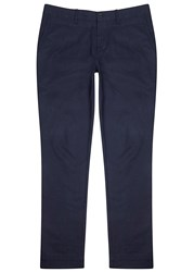 J. Lindeberg Chaze Navy Brushed Cotton Chinos