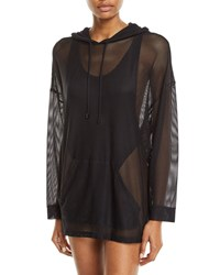 Magicsuit Oversized Mesh Coverup Hoodie Black