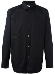Ganryu Comme Des Garcons Side Pocket Shirt Black